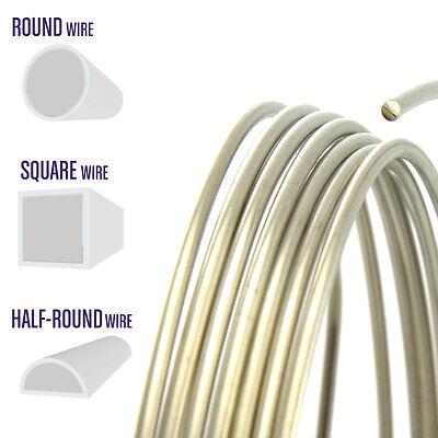 Nickel Silver Wire, Round, Half Round, Square, 12 14 16 18 20 21 22 24 (20 Gauge Silver Wire)
