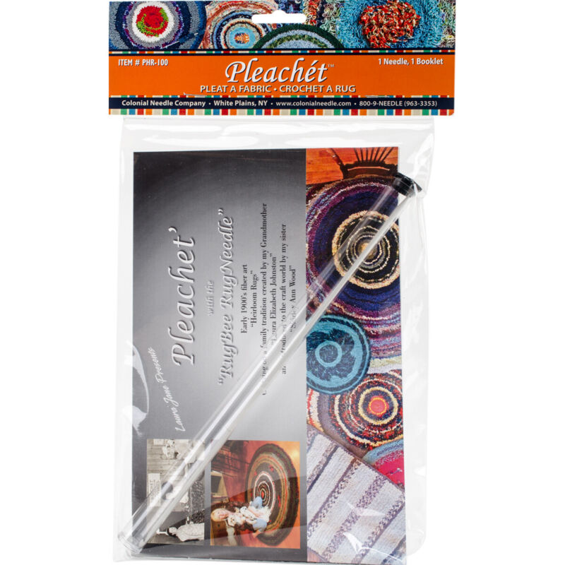 Colonial Needle-Colonial Needle Pleachet Rug Needle & How-To Booklet-