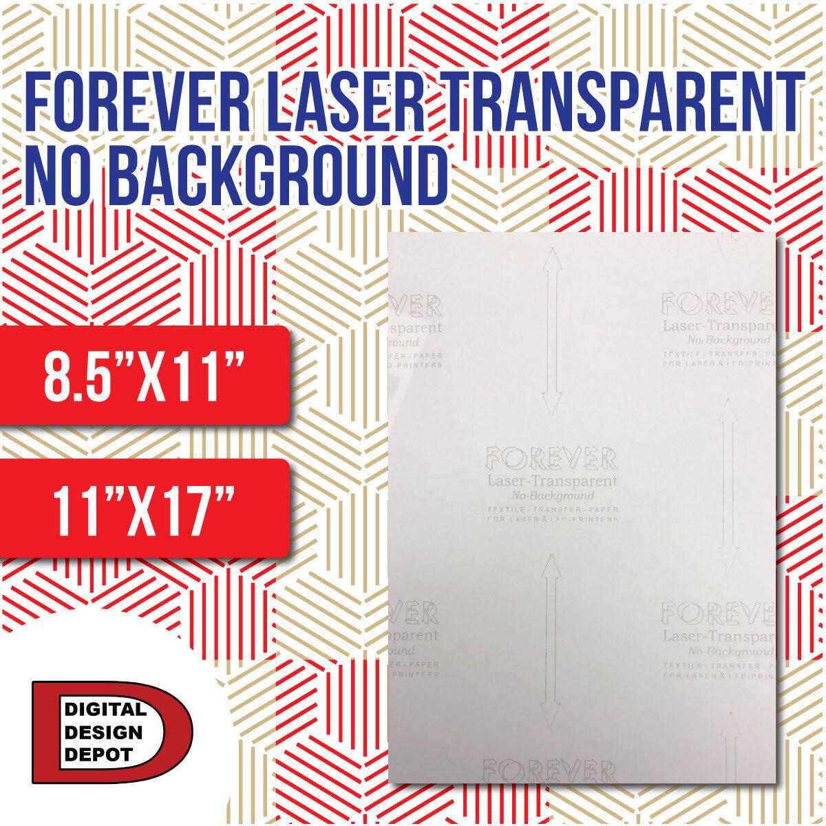 Forever Laser Transparent No Background HEAT TRANSFER PAPER