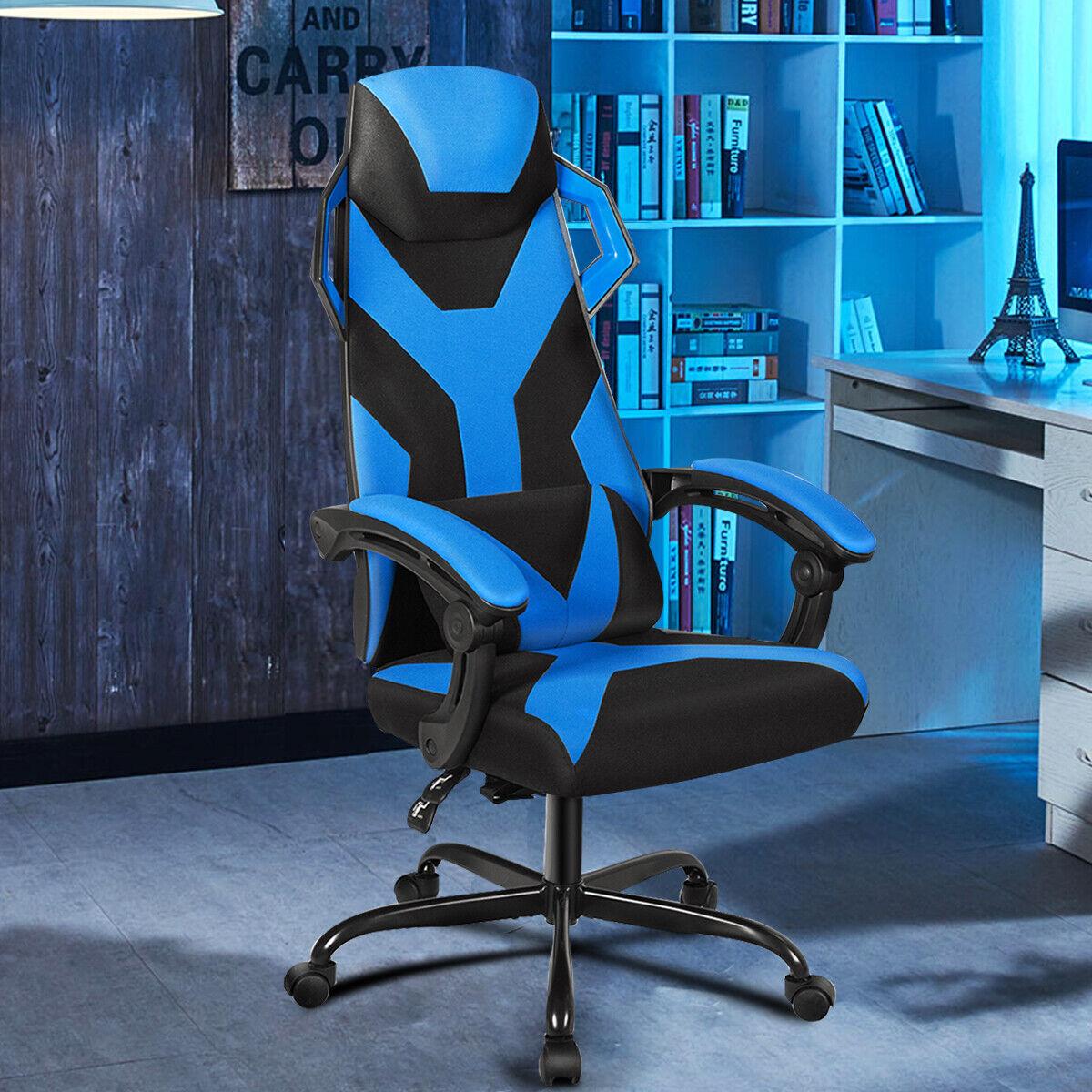 Gaming Stuhl Bürostuhl Chefsessel Massagestuhl Rädern Racingstuhl verstellbar