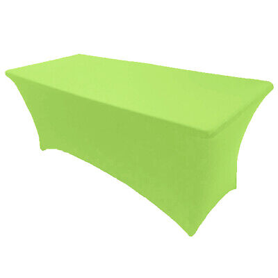 6' ft. Spandex Fitted Stretch Tablecloth Table Cover Wedding Party Banquet Lime](Spandex Table Covers)