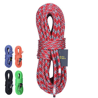 10MM 10M Rock Climbing Rope Static Rope Rappelling Safety Rescue Auxiliary Cord 10 Mm Climbing Rope