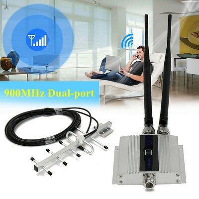 900Mhz Cell Mobile Phone GSM Signal Repeater Booster Amplifier + Yagi Antenna