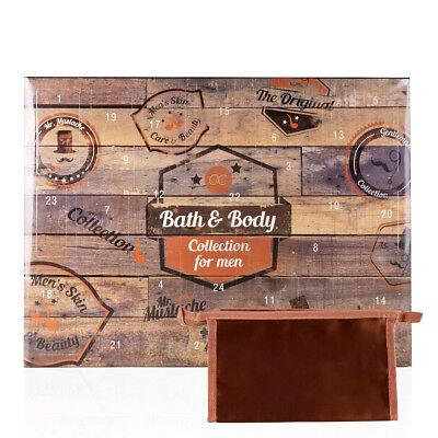 Beauty Adventskalender für Männer Bath & Body Weihnachten inkl. Kulturtasche