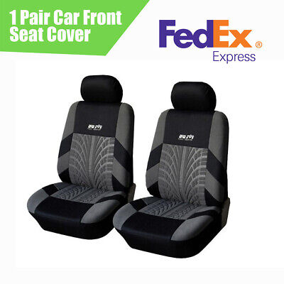US Shipping 2Pcs Car Front Seat Covers Cushion Protector Breathable All Season
