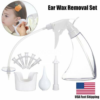 US Ear Wax Cleaner Earwax Removal Kit Earwax Cleaning Tool with Basin 5 Tips set Ear Wax Cleaning