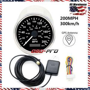 gps speedometer 85mm auto stainless digital gps speedometer 200kmh for car truck 12v 24v usstock