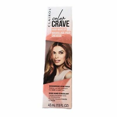 The Color Rose Gold (Clairol Color Crave Hair Makeup Temporary Color Rose Gold 1.5oz New In The)