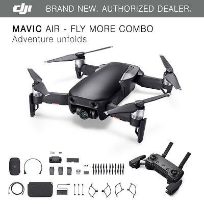 Dji Mavic Air   Onyx Black Drone   Fly More Combo   4K Camera