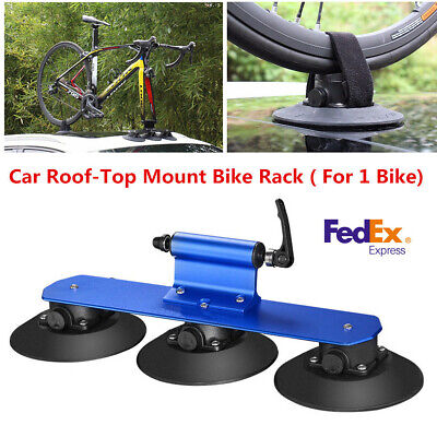 Aluminum Alloy Bicycle Rack Roof-Top Suction Car Rack Hitch Carrier For One Bike