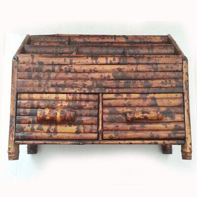 Wooden Desk Organizer W Drawer - Office Supplies Desktop Tabletop Shelf Holder