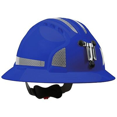 Jsp Mining Hard Hard Full Brim With 6 Point Ratchet Suspension Blue