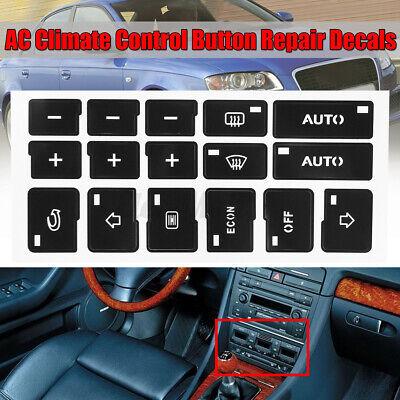 Set di AC clima controllo pulsante riparazione Sticker adesivi per Audi A4