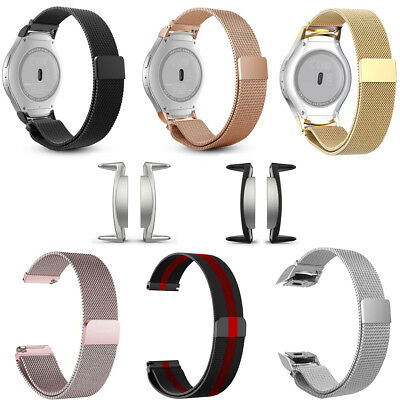 720 Steel Lock - For Samsung Gear S2 SM-R720/R730 Stainless Steel Bracelet Band Strap Magnet Lock