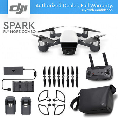 DJI SPARK FLY MORE COMBO - Alpine White. 12MP Camera, 1080p Video, Active Track