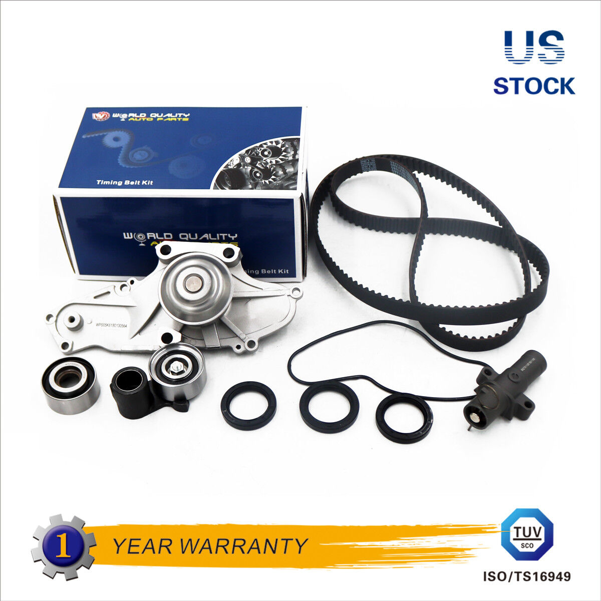 Fit 03-09 Honda Acura Saturn Timing Belt Kit Water Pump GMB Tensioner