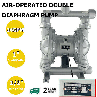 Air-operated Double Diaphragm Pump 1 Inlet Outlet Petroleum Fluids 115psi 24gpm