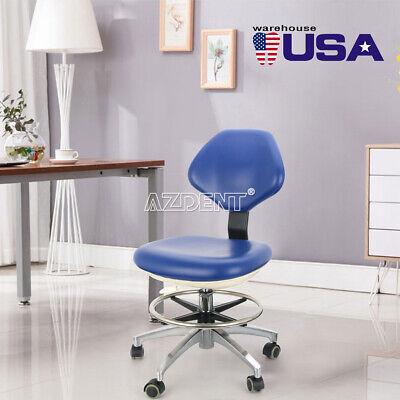 Pu Leather Dental Medical Doctor Assistant Stool Adjustable Mobile Rolling Chair