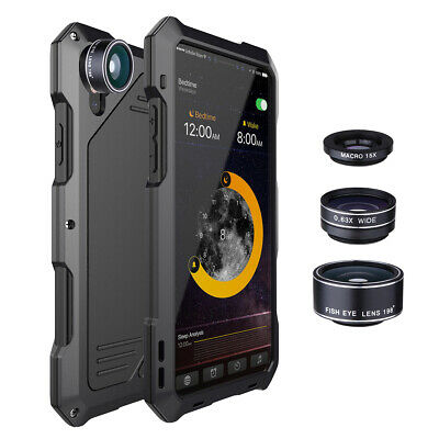 Iphone Camera Lens - For iPhone X 8+ 7 XR Xs Max Waterproof+3 Camera Lens Shockproof Metal Case Cover