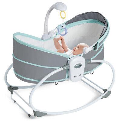 5 in 1 Portable Baby Rocking Bassinet Multi-Functional Crib