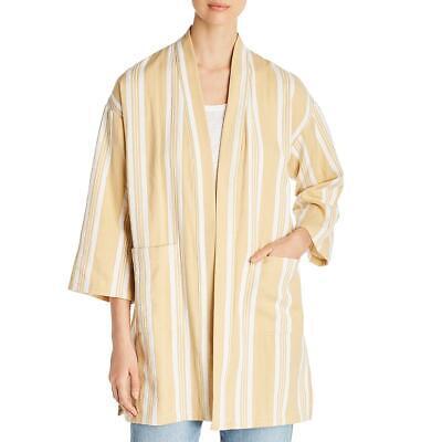 Eileen Fisher Womens Beige Organic Cotton Jacket Blazer Petites PM/PL BHFO 7391