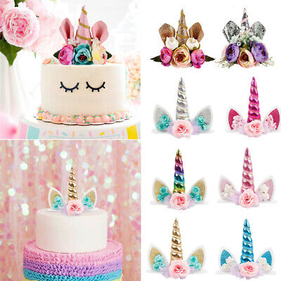 Baby Shower Ornaments (Unicorn Birthday Cake Topper Decor Baby Shower Ornaments Prop Party)