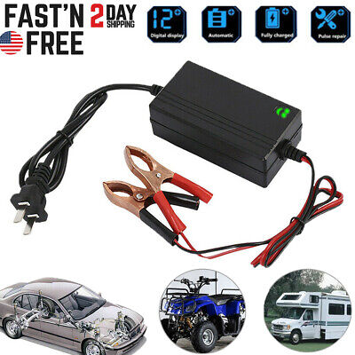 Portable 12V Auto Car Battery Charger For Trickle Maintainer Boat Motorcycle New Car Battery Charger Set