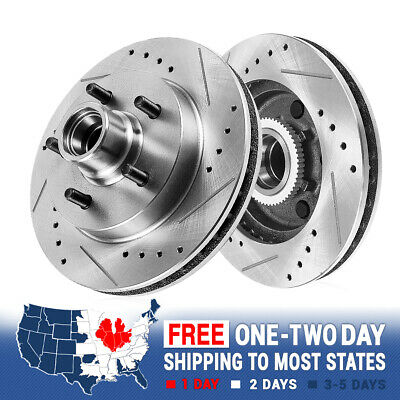 Front Drilled And Slotted Brake Rotors For Chevy C1500 Tahoe GMC Savana Yukon