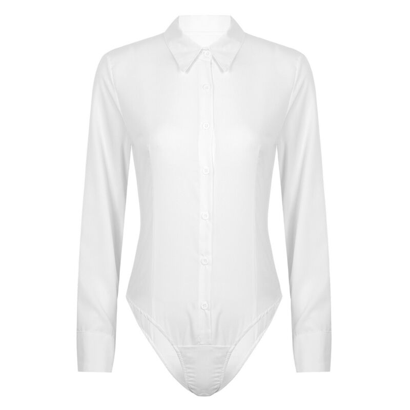 TWIFER Plus Size Women Turn Collar Long Sleeve T-Shirts Tops Solid Blouse Pullover Shirt Turn-Down Collar Shirts