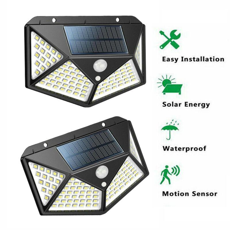 100 Solar Light Outdoor Wireless Sensor Yard Lamp