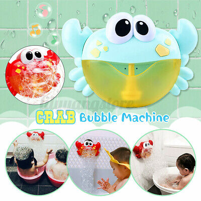 Bubble Machine Crab Automatic Bubble Maker Blower Music Bath Toys Baby