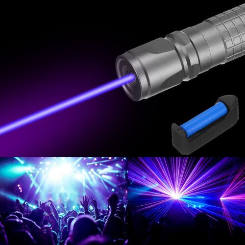 900Miles Laser Pointer Pen Blue Purple Light Visible Beam Lazer&Batt&Charger