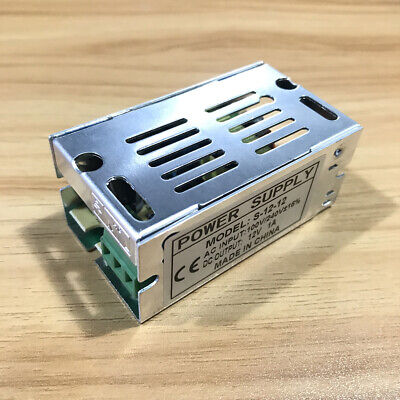 Dc 12v 1a 12w Universal Regulated Switching Power Supply Adapter Ac 110-240v
