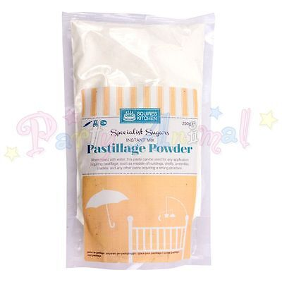 Squires Kitchen 250g Instant Mix Pastillage Sugarcraft Powder used for Modelling