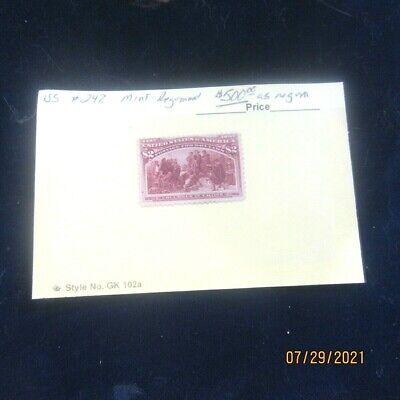 US Scott # 242 * Mint Re-gummed *  $2.00 * 99 Cent Opening Price * CV=$500.00