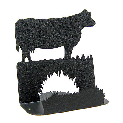 Cow Black Metal Business Card Holder