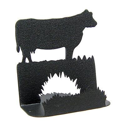 Cow Black Metal Business Card Holder