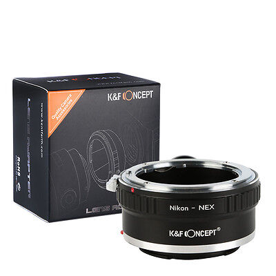 K&F Concept adapter with tripod for Nikon F mount lens to Sony E mount NEX A7II
