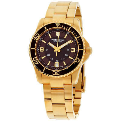 Victorinox Swiss Army Women's Watch Maverick Brown Dial Bracelet 241614