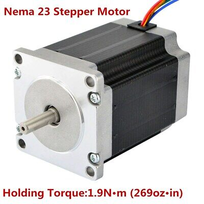 Nema 23 Stepper Motor 3a 3.6v 269ozin1.9nm Cnc Stepping Motor Diy Cnc Mill