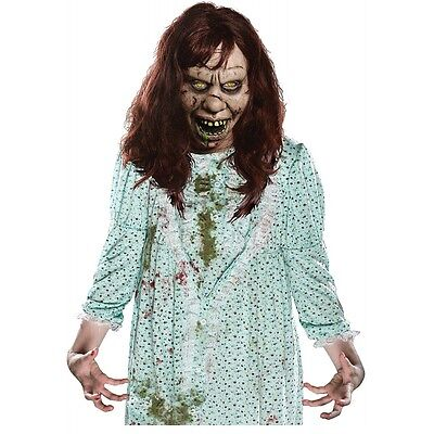 The Exorcist Regan Mask Adult Scary Halloween Costume Fancy Dress