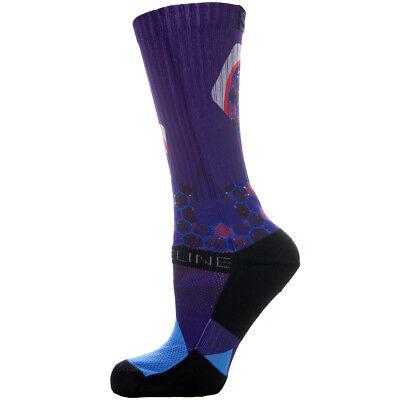 Strideline Athletic Crew Socks Optics Imperial Purple 2600211  Strapped Fit - Purple Mens Socks