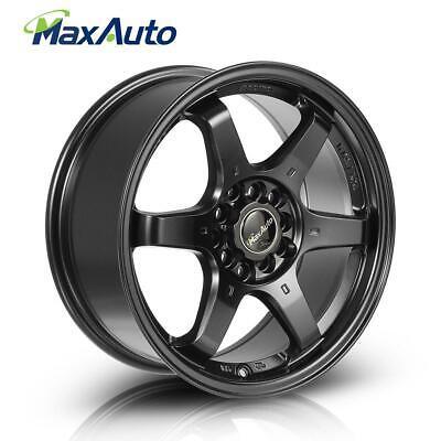 (1) 16X7 Inch +40 Offset Wheels 5 Lug 5x100 Rims 5x114.3 Rims Matte Black
