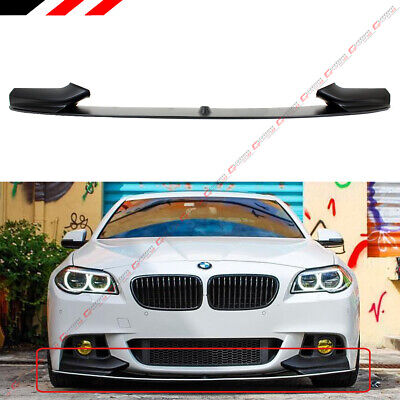Bmw Front Spoiler (For 11-16 BMW F10 5 Series M Sport Bumper Performance Front Lip Spoiler Splitter )
