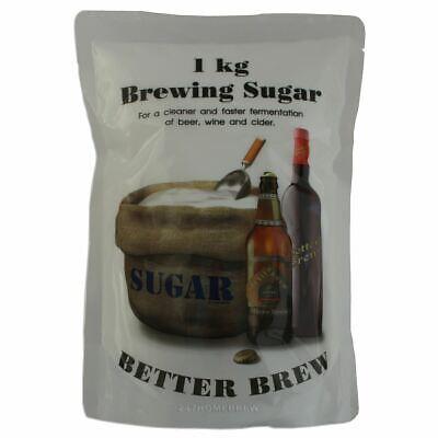 1kg Brewer Sugar Dextrose for Homebrew Wine, Beer & Cider Making Better (Best Sugar For Brewing Beer)