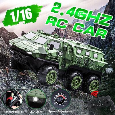 6WD RC Auto Gepanzertes Fernbedienung Military Truck Armee LKW Spielzeug Mit LED