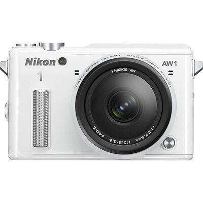 Nikon 1 AW1 14.2MP Waterproof Shockproof Camera w/ AW 11-27.5mm Len White Refurb