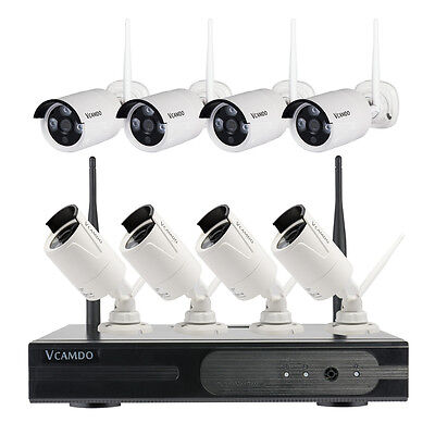 Vcamdo Outdoor Wireless best home video surveillance systems easy simple