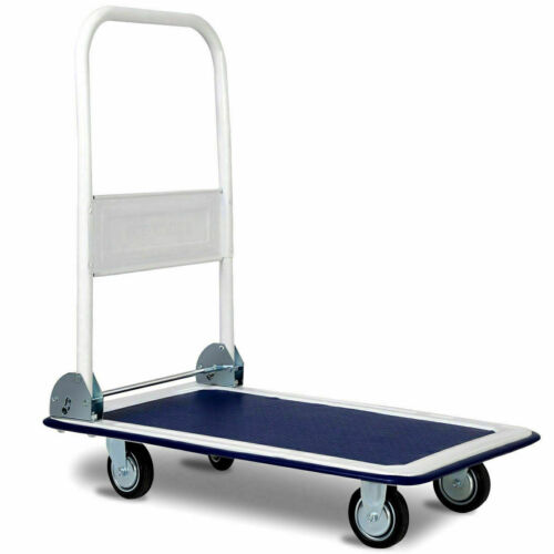 Platform Cart Dolly Folding Moving Warehouse Push Hand Truck Rolling 330lbs
