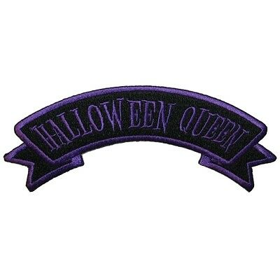 Halloween Queen Name Tag Patch Horror Kreepsville Embroidered Iron On - Halloween Names